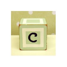 """c"" Letter Block in Green"