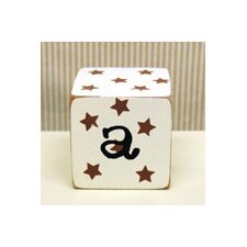 "<strong>New Arrivals</strong> ""a"" Letter Block in Chocolate"