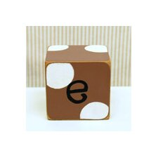 """e"" Letter Block in Chocolate"