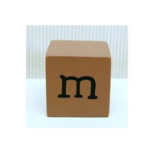 """m"" Letter Block in Chocolate"