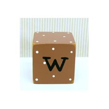"""w"" Letter Block in Chocolate"
