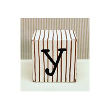 """y"" Letter Block in Chocolate"