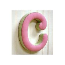 """c"" Fabric Letter in Pink / Green"