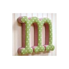 "<strong>New Arrivals</strong> ""m"" Fabric Letter in Pink / Green"