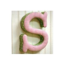"""s"" Fabric Letter in Pink / Green"