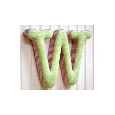 "<strong>New Arrivals</strong> ""w"" Fabric Letter in Pink / Green"