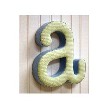 "<strong>New Arrivals</strong> ""a"" Fabric Letter in Blue / Green"