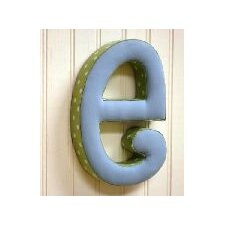 "<strong>New Arrivals</strong> ""e"" Fabric Letter in Blue / Green"