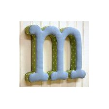 """m"" Fabric Letter in Blue / Green"