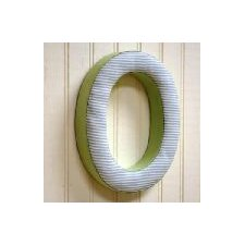 "<strong>New Arrivals</strong> ""o"" Fabric Letter in Blue / Green"