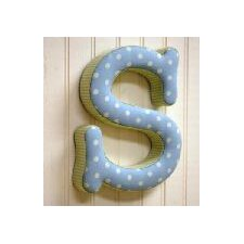 "<strong>New Arrivals</strong> ""s"" Fabric Letter in Blue / Green"