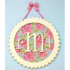 Scalloped Monogram Wall Plaque