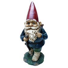 Garrold Gnome Carrying Basket Statue