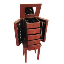 Addison Jewelry Armoire in Walnut