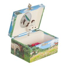 Apple Girl's Musical Horse Jewelry Box
