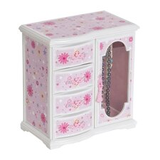 Hyacinth Girl's Glittery Upright Musical Ballerina Jewelry Box