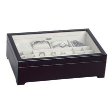 Sheraton Glass Top Musical Wooden Jewelry Box