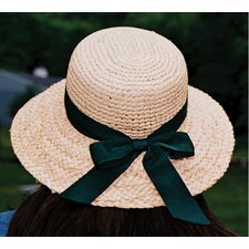 WWG Raffia Hat with Brim and Ribbon