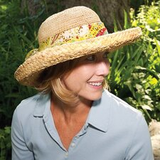 Natural Raffia Sun Hat with Paisley Bow