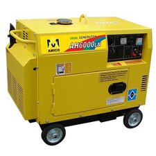 <strong>Amico Power Corp</strong> 6,500 Watt Diesel Generator with Wheel Kit and Electric Start
