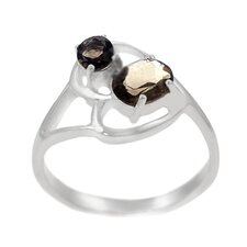 Sterling Silver and Smokey Topaz Ring