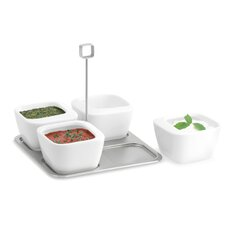 Enza Five Piece Dip Bowl Set with Tray