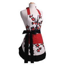 <strong>Flirty Aprons</strong> Women's Original Apron in Cherry Blossom