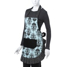Women's Original Apron in Aqua Damask