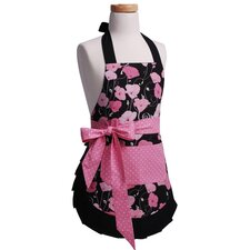 <strong>Flirty Aprons</strong> Girls' Original Apron in Midnight Bloom