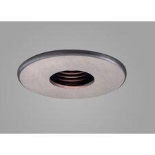 "Jewel 3.6"" Fixed Wallwash Round Downlight Trim with Black Baffle"