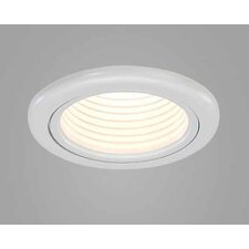 "<strong>CSL</strong> Jewel 3.6"" Fixed Wallwash Round Downlight Trim with Black Baffle"