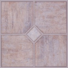 "Solidity 30 Venetian Travertine 24"" Vinyl Tile in Milan"