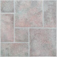 SAMPLE - American Random Tumbled Stone Vinyl Tile in San Marino
