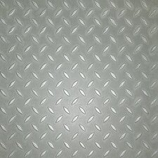 <strong>Metroflor</strong> SAMPLE - Metro Design Textured Metallic Tile Vinyl Tile in Silver