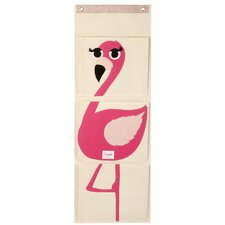 <strong>3 Sprouts</strong> Flamingo Wall Toy Organizer