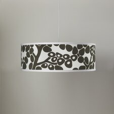 Modern Berries Shallow 3 Light Cylinder Pendant