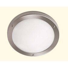 Oslo 40 cm Wall / Ceiling Light in Satin Nickel