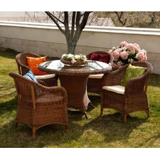 Sicilia Java Honey 4 Seater Dining Set