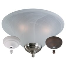 Bowl Light Kit - White Faux Alabaster