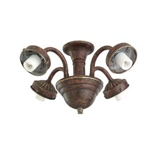 "2.25"" Four Light Ceiling Fan Fitter"