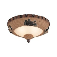 Monte Carlo Fan Company Great Lodge Pine 2 Light Bowl Ceiling Fan Light Kit