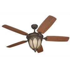 "<strong>Monte Carlo Fan Company</strong> 54"" Grand Isle 5 Blade Indoor / Outdoor Ceiling Fan with Remote"