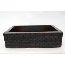 "<strong>Ambiente</strong> 33"" x 22"" Handmade Farmhouse Single Well Large Bricks Kitchen Sink"