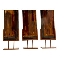 Handmade Sculpture Panel with Iron Stands (Set of 3)