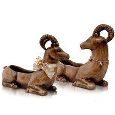 <strong>Ambiente</strong> 2 Piece Ceramics Christmas Deer Set