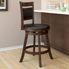"Woodgrove 24"" Swivel Bar Stool with Cushion"