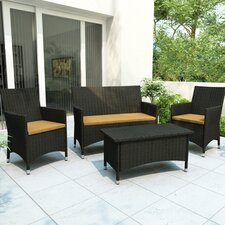 <strong>dCOR design</strong> Cascade 4 Piece Lounge Seating Group with Cushions
