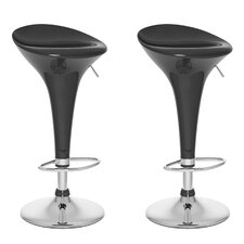 CorLiving Form Fitted Adjustable Height Bar Stool (Set of 2)