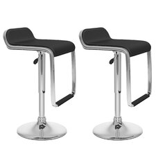 CorLiving Adjustable Barstool with Footrest (Set of 2)