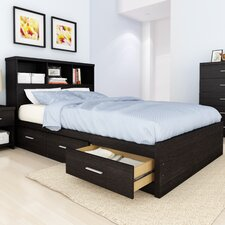 Willow Bookcase Storage Platform Bed
